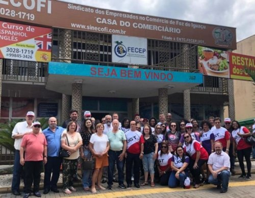 Comerciários participam de Encontro na Argentina